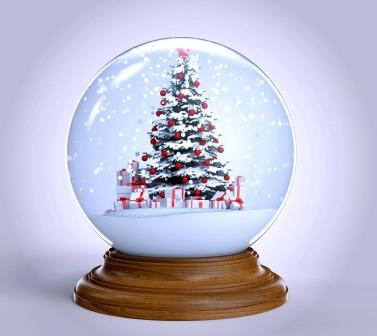 but i was distracted a picture had popped up on my mental screen an ornament a small glass ball containing a snowy landscape when the ball was shaken - When Was Christmas