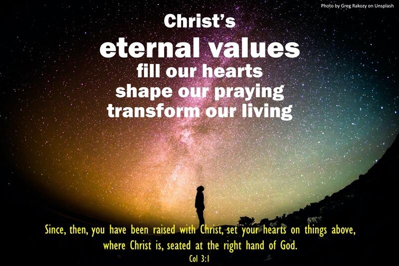 Eternal values shape prayer life