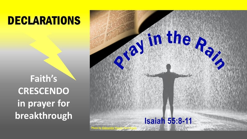 Pray in the Rain - Declaring