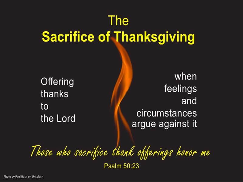 Sacrifice of Thanks